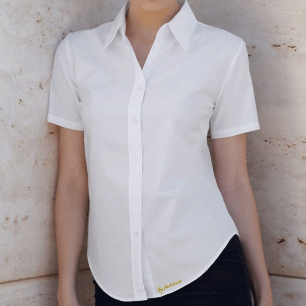 Chemise blanche femme manche courte   Fisysconsulting 1bb695dcf6b